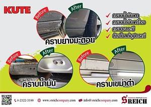 KUTE ผลิตภัณฑ์ทำความสะอาดสูตรเข้มข้นที่ขจัดคราบหนักอย่างง่ายดาย
