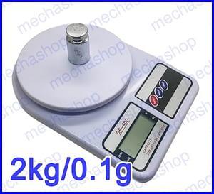 ตาชั่งดิจิตอล เครื่องชั่งตวงอาหาร เครื่องชั่งราคาถูก 2kg ความละเอียด 1g Digital FOOD BOWL SCALE