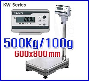 ตาชั่งดิจิตอล เครื่องชั่งตั้งพื้น KW Series platform Scales 500kg ละเอียด50g แท่นชั่ง600x800mm NAGATA