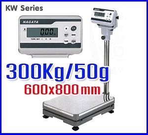 ตาชั่งดิจิตอล เครื่องชั่งตั้งพื้น KW Series platform Scales 300Kg ละเอียด50g แท่นชั่ง600x800mm NAGATA