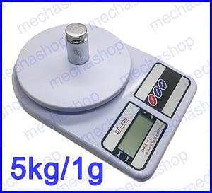 ตาชั่งดิจิตอล เครื่องชั่งตวงอาหาร เครื่องชั่งราคาถูก 2kg ความละเอียด 0.1g Digital FOOD BOWL SCALE