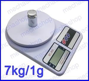 ตาชั่งดิจิตอล เครื่องชั่งตวงอาหาร เครื่องชั่งราคาถูก 7kg ความละเอียด 1g Digital FOOD BOWL SCALE