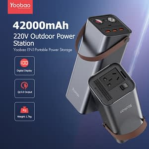150W Power Bank ความจุ 42000 mAh แบบพกพา แหล่งจ่ายไฟ DC/AC แบตเตอรี่สำรอง