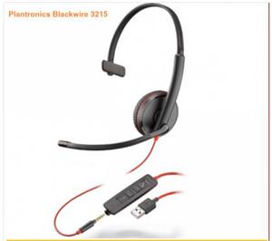 Plantronics Blackwire 3215 USB-A หูฟังคอลเซ็นเตอร์