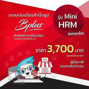 โปรแกรมเงินเดือน Bplus Mini HRM