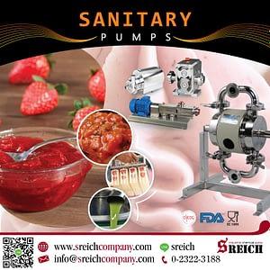 ปั๊มฟู้ดเกรดสูบส่งของเหลว ขนถ่ายวัตถุดิบ สำหรับกระบวนการผลิตในโรงงานอาหาร